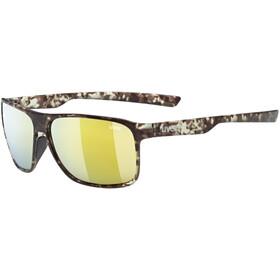 UVEX LGL 33 Pola Glasses havanna mat/mirror yellow